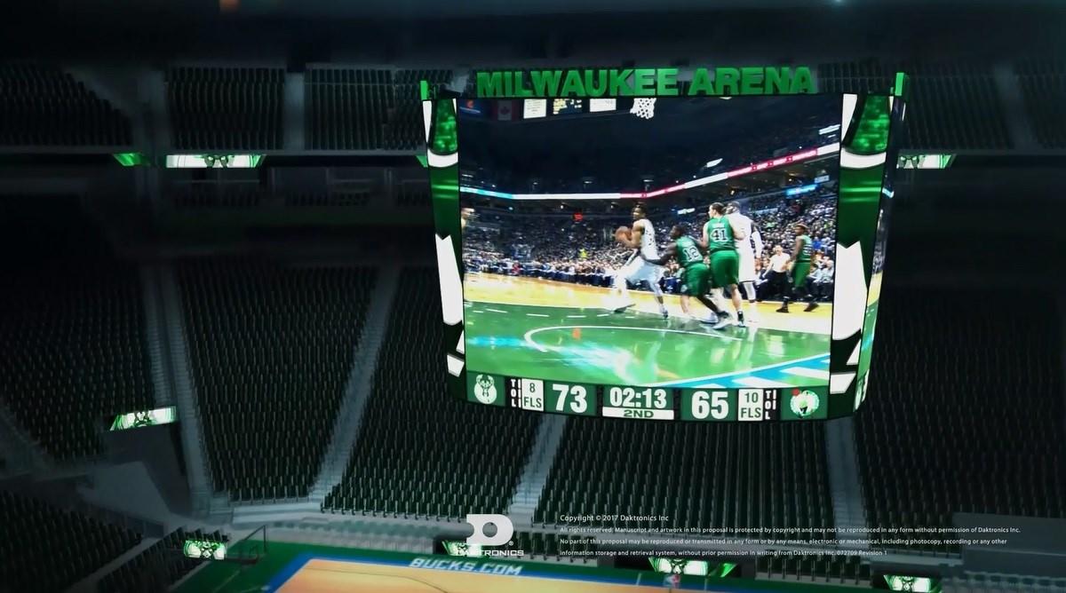 Milwaukee Bucks To Unveil NBA's Largest Centerhung With Daktronics