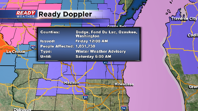 Winter Weather Advisory Replaces Winter Storm Warning
